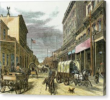 Virginia City In 1870 Canvas Print by Prisma Archivo