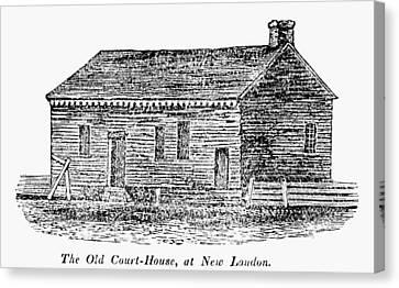 Carousel House Canvas Print - Virginia Court House by Granger