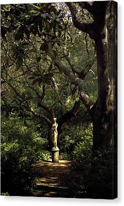 Canvas Print featuring the photograph Virginia Dare Statue by Greg Reed