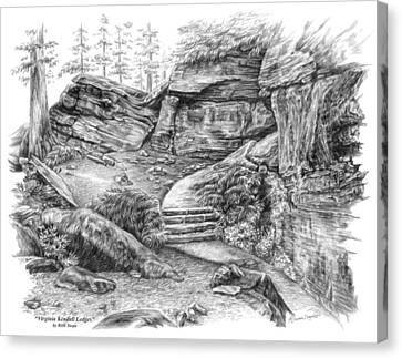 Canvas Print featuring the drawing Virginia Kendall Ledges - Cuyahoga Valley National Park by Kelli Swan