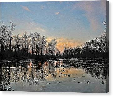 Canvas Print featuring the photograph Virginia Landscape Art #1b by Digital Art Cafe