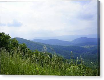 Canvas Print featuring the photograph Virginia Mountains by Laurie Perry
