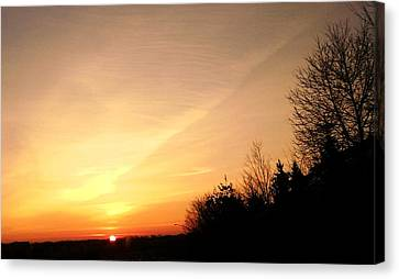 Virginia Sunset Canvas Print by Carlee Ojeda