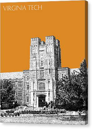 Virginia Tech - Dark Orange Canvas Print by DB Artist