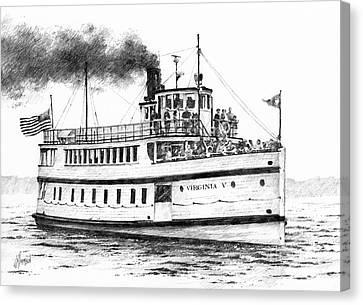 Virginia V Steamship Canvas Print