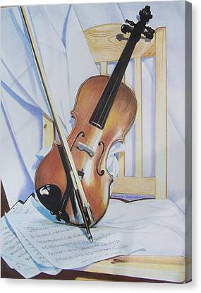Virginia's Violin Canvas Print by Constance Drescher