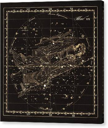 Virgo Constellation, 1829 Canvas Print by Science Photo Library