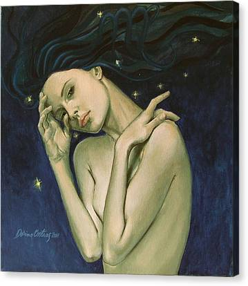 Virgo  From Zodiac Series Canvas Print by Dorina  Costras