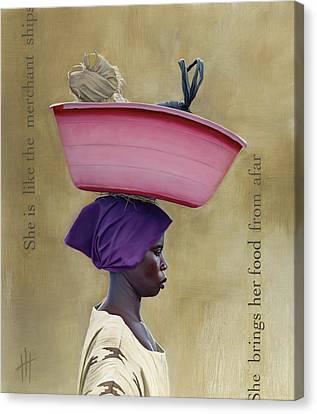 Virtuous Woman  Canvas Print by Hannah  Harris