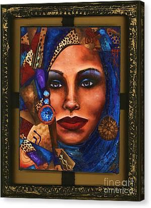 Vision In Blue Canvas Print by Alga Washington
