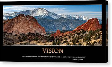 Vision - Inspirational Canvas Print by Gregory Ballos