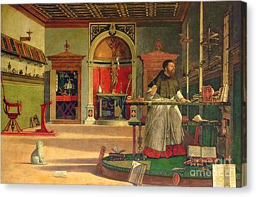 Augustine Canvas Print - Vision Of St. Augustine by Vittore Carpaccio