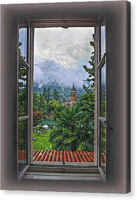 Canvas Print featuring the photograph Vision Through The Window by Hanny Heim