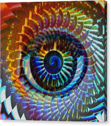 Red Eye Canvas Print - Visionary by Gwyn Newcombe