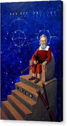 Visionary Of Stars Galileo Galilei  Canvas Print by Janelle Schneider