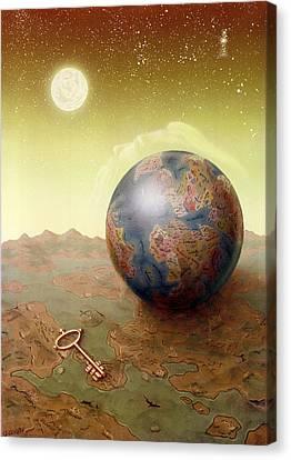 Terrestrial Sphere Canvas Print - Visions by Achim Prill