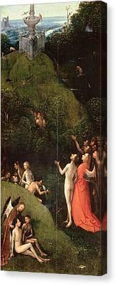 Terrestrial Canvas Print - Visions Of The Hereafter - Terrestrial Paradise by Hieronymus Bosch