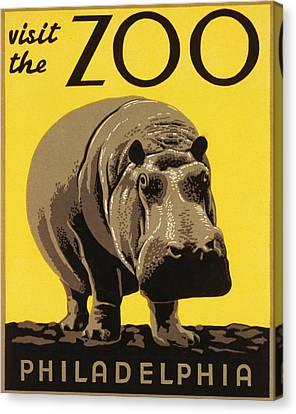Visit The Philadelphia Zoo Canvas Print by Bill Cannon