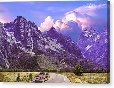Canvas Print featuring the photograph Visit Wyoming by Ed Dooley