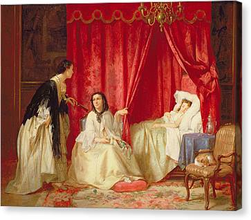Visiting A Sick Friend Canvas Print by Charles Desire Hue