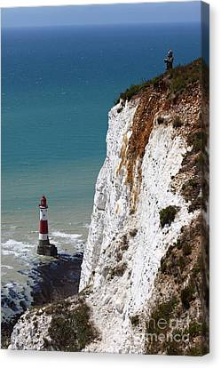 Visiting Beachy Head Canvas Print by James Brunker