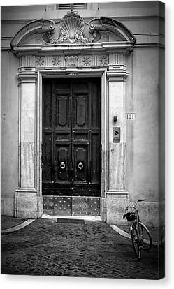 Entrance Door Canvas Print - Visiting by Joan Carroll