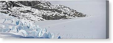 Visiting Portage Glacier In The Winter Canvas Print by Tim Grams