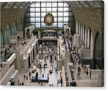 Visiting The Musee D'orsay Canvas Print by Ann Horn