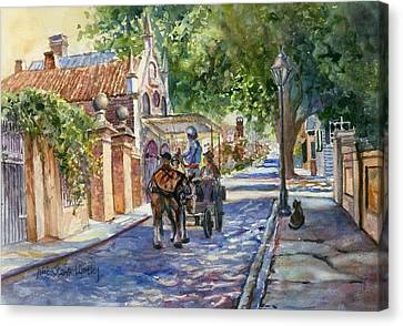 Visiting The S.o.b. Hood Canvas Print by Alice Grimsley