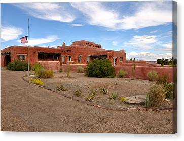 Visitor Center At Painted Desert Canvas Print by Gene Sherrill