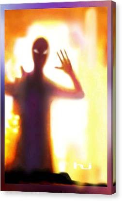 Alien Visitor Canvas Print by Hartmut Jager