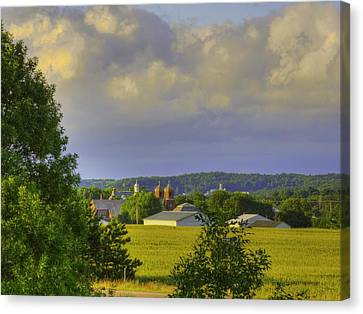 Vista At Tildon Wisconsin Canvas Print by Larry Capra