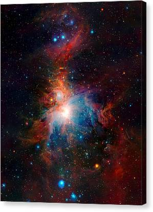 Vista Telescope Infrared View Orion Nebula Enhanced Canvas Print by L Brown