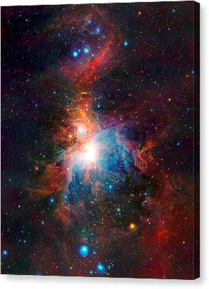 Vista Telescope's Infrared View Orion Nebula Enhanced 3 Canvas Print by L Brown