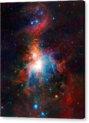 Vista Telescope's Infrared View Orion Nebula Enhanced II Canvas Print by L Brown