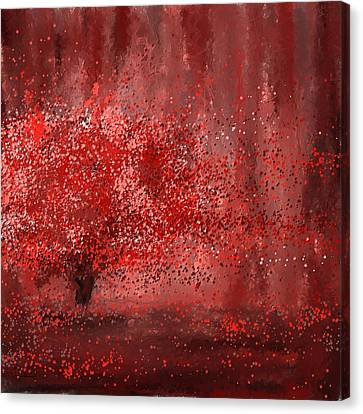 Visually Empowered- Marsala Art Canvas Print by Lourry Legarde
