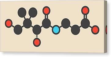 Vitamine Canvas Print - Vitamin B5 Molecule by Molekuul