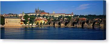 Vitava River Charles Bridge Prague Canvas Print by Panoramic Images