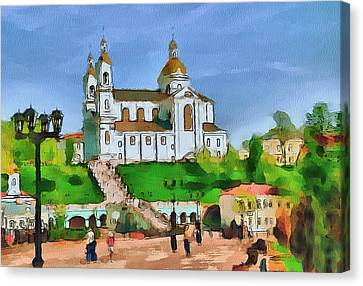 Vitebsk Cathedral 1 Canvas Print by Yury Malkov