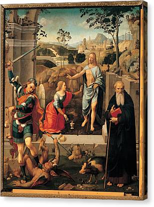 Viti Timoteo, Christ Appearing To Mary Canvas Print