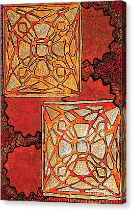 Vitrales II From The Frank Lloyd Wright A Mano Series Canvas Print by Chary Castro-Marin