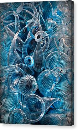 Vitreous Azure Abstract Canvas Print