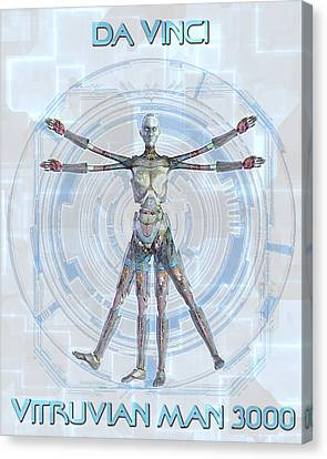 Vitruvian Man 3000 Canvas Print by Frederico Borges