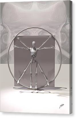 The Vitruvian Android Canvas Print by Quim Abella
