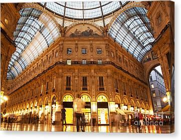 Vittorio Emanuele II Gallery Milan Italy Canvas Print by Michal Bednarek