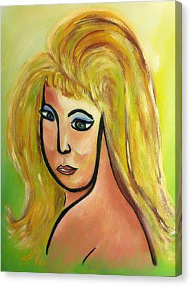 Viva Bouffant Canvas Print by Donna Blackhall