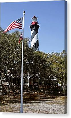 Viva Florida - The St Augustine Lighthouse Canvas Print by Christine Till