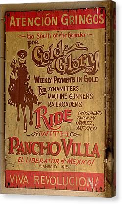 Richard Canvas Print - Viva Revolucion - Pancho Villa by Richard Reeve