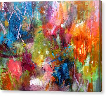 Canvas Print featuring the painting Vivacious by Katie Black