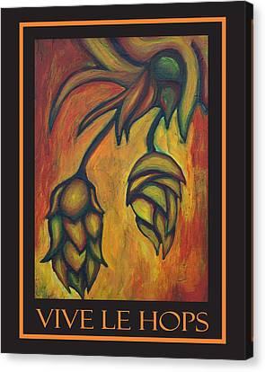 Vive Le Hops In Black Canvas Print by Alexandra Ortiz de Fargher